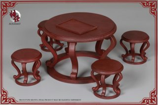 1/6 JSModel 中国清朝 テーブルと4点椅子セット Qing empire series Mn007 desk and chair package