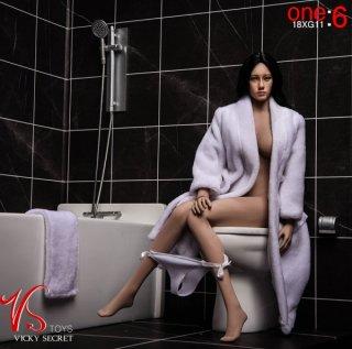送料無料 1/6  vstoys 18xg11 フィギュア用 浴室・お風呂 トイレ バスローブとタオルセット