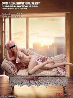 送料無料 1/6 TBLeague PLMB2018-S26A   最新アジアン スレンダーショットタイプ 超柔軟性シームレス ジュニア女性素体 ペールスキン(白肌色) バストサイズM