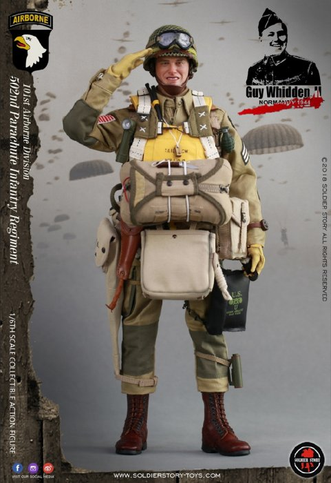 Soldier Story SS110 1//6 WWII US 101st Airborne Division Paratrooper Head Sculpt