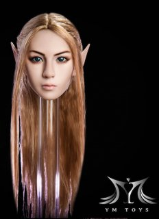 1/6 YMtoys ヴァンバイア Elf A  美人女性ロングヘア 白肌ヘッド 耳入り替え可