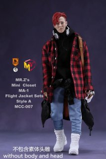 予約1/6 MCCToys x Mr.Z MCC007  MR.Z's Mini Closet- Flight Jacket sets
