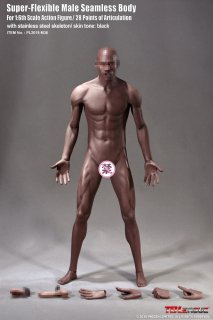 送料無料  1/6 TBLeague  PL2018-M36 黒人男性 筋肉シームレスボディ バスケットボール 選手 素体
