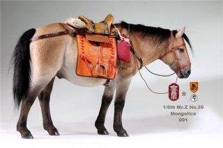 1/6 MR.Z KLG-M001/2/3/4 モンゴル馬 Liaodong Mongol Cavalier Horse