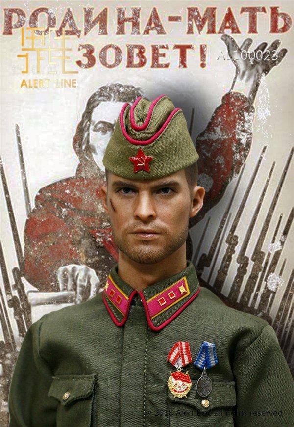 1//6 Scale Alert Line Action Figures Red Army Lieutenant Nagant Revolver