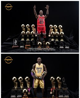 予約 1/6  DREAMTOYS MJ23マイケル・ジョーダン/KB24コービー・ブライアント NBA全受賞 名誉トロフィー