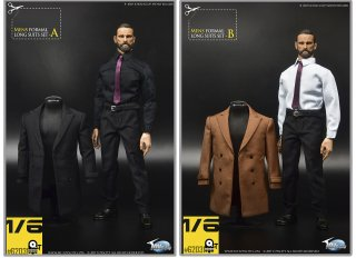 予約 1/6 ToysCity 62031 A/B  Closure collar three-quarter coat 男性コート服セット