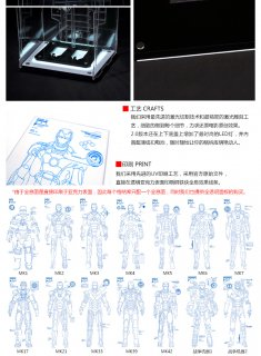 1/6 TOYS-BOX TB018-S 欧米男性  トニー LEDライト付けアクリルケース 格納庫 2.0版