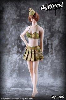 予約 1/6 MULTIFUN  MF005 美人迷彩軍隊セクシービキニ ミニスカート Camo Bikini セット