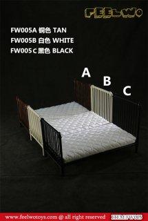 1/6 FEELWOTOYS FW005 金属シングルベッドとマットレス/寝具セット