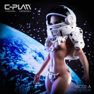 予約 1/6  C-PLAN  18C02-A  宇宙少女 GK Space Girl  MISS Space Statue White