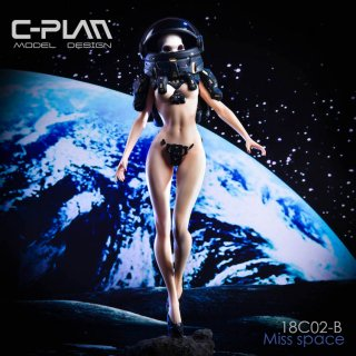 予約 1/6  C-PLAN 18C02-B 宇宙少女  GK Space Girl  MISS Space Statue Black