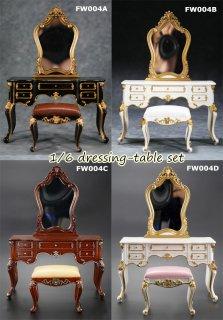 1/6 FEELWOTOYS FW004  欧米 アンティーク 高級ドレッサー椅子セット