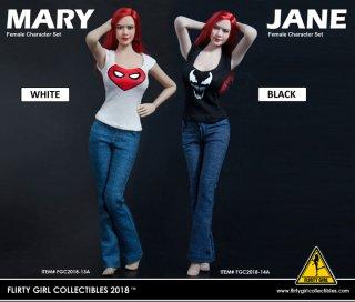 予約 1/6 Flirty Girl Collectibles FGC2018-13A/14A cosplay MARY and JANE Female Fashion Set ヘッドと服セット