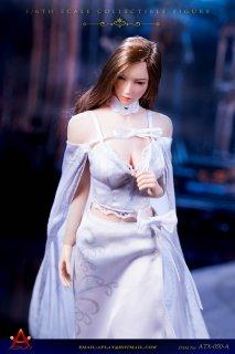 送料無料 予約 1/6 ACPLAY ATX050-A 女性用女王風ロングレトロスカートドレス服セット