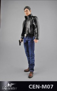 送料無料 1/6 Toy center CEN-M07男性スパイ007等用 革服と武器セット