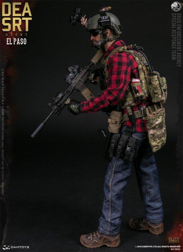DEA SRT El Paso Red Shotgun Shells x6-1//6 Scale Damtoys Action Figures