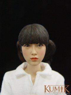 送料無料 1/6 KUMIK KM017 ブラックヘア アジアン クラシック 美人ヘッド