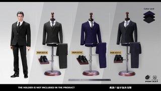 送料無料 予約1/6 POPTOYS  X27 高級カスタム風 男性スーツ服セット
