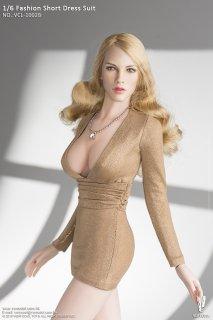 送料無料 1/6  VERYCOOL VCL-1002B ファッションショートドレスと欧米美人ヘッド
