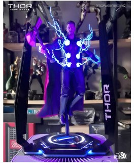 送料無料 1/6 TOYS-BOX TB077 LED紫外線地台 Light up Base With Ultra Violet Light (Thor version)」
