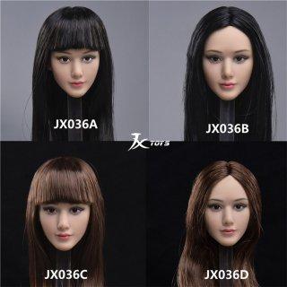 送料無料 予約 1/6 JXTOYS JX-036 アジアン美人 ジュニア女性 ヘッド