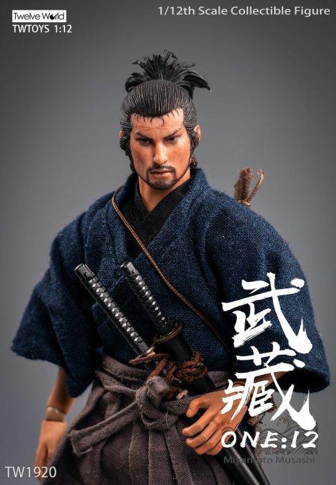 "Blank 1//6 scale みやもと むさし Miyamoto Musashi 2.0 Head Sculpt Unpainted Fit 12/"" Body"