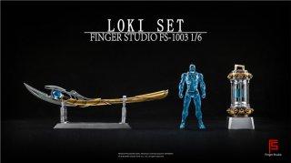 予約 送料無料  1/6 Finger Studio FS-1003 MK7 LED機能ライト ロキ武器セット