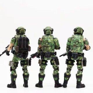 送料無料 1/18 JOYTOY 81911021 ロシア連邦軍三人チーム