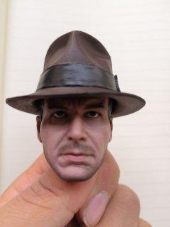 送料無料 1/6 Doudou 欧米男性ジョーンズ  フォード ヘッドと帽子