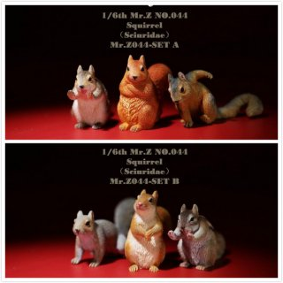 送料無料 予約 1/6 MR.Z  MRZ044 A/B 可愛いリス Animal Model No.44: 1/6th Squirrell(Set A/B)