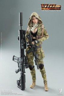 送料無料 予約 1/12 VERYCOOL VCF-3004 ヴィラ MC Camouflage Women Soldier Villa 迷彩美人