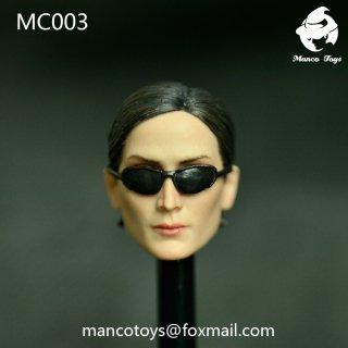 送料無料 予約 1/6 Mancotoys  MC003 マトリックス 欧米ファイター ヘッド メガネ付