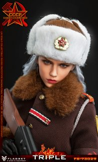 送料無料 予約 1/6 Flagset FS73029 Red Alert Soviet Officer Katyusha カチューシャ  ソビエト連邦美人