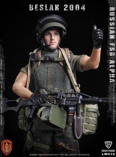 送料無料 予約 1/12 Crazy Figure LW010 アルファ部隊 機関銃軍