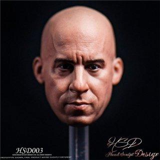 予約 送料無料  1/6 HSDToys  HSD003  ヴィン・ディーゼル 欧米男性ヘッド