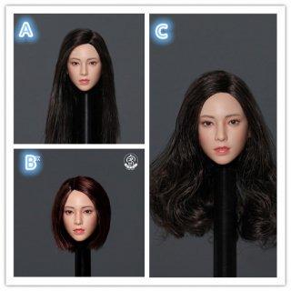 予約 送料無料  1/6 KEDU TOYS 美人少女 アジアン女性ヘッド