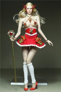 送料無料 1/6 GamerBeauty A2020 TBLeague素体用  2020最新版 クリスマス美人  ドレスとアクセサリーセット