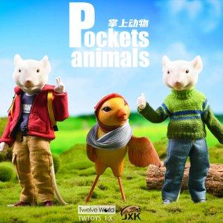 予約 送料無料  1/12 JXK  JXK032 7インチ Pocket Animals Mouse Rat Brother Animal Figure/Sparrow Statue Model