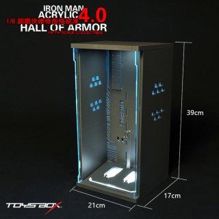 送料無料 1/6 TOYS-BOX TB032 欧米男性  トニー LEDライト付けアクリルケース 格納庫 4.0版