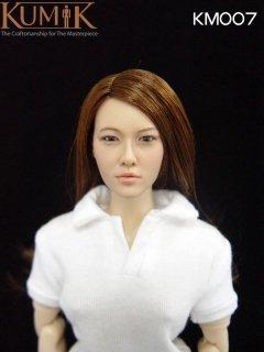 送料無料 1/6 クミク KUMIK KM007 アジアン美人ロングヘアヘッド