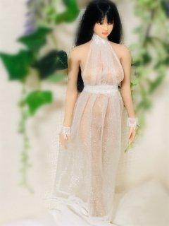 送料無料 1/6 Charlie's Angels 2020ガールズ  セクシー透明ワンピースドレス
