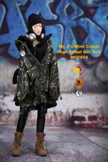 送料無料 1/6 MCCToys x Mr.Z MCC014 mini Closet  High street girl suits 女性服と靴セット
