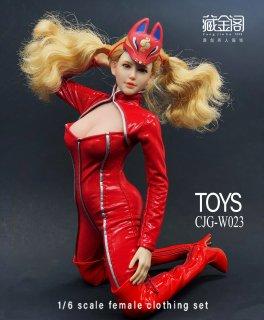 送料無料 1/6 CangJingGe CJG-W023 高卷美人用 赤い革服セット