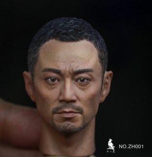 送料無料 1/6 十二時 ZH001 戦場のレクイエム チャン・ハンユー アジアン男性ヘッド