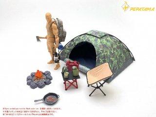 予約 送料無料  1/12 PEPATAMA M-008 テント/ DH-E002 キャンプ用アクセサリーセット
