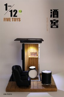 予約 送料無料  1/12 FIVETOYS F2012 LEDライト ワインバー ソファなど付