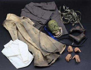 送料無料 1/6 DIY かかし 欧米男性ヘッドと服セット