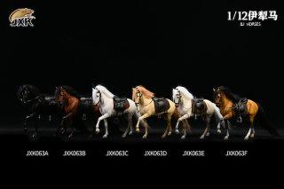 予約 送料無料  1/12 JXK JXK063 ウイグル 戦馬 馬具付