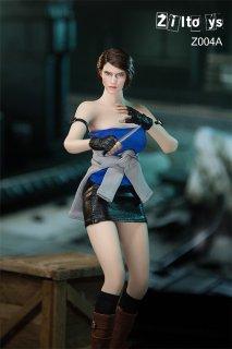 予約 送料無料 1/6 Ziltoys Z004A バイオン ジル 警察 欧米女性ヘッドと服と靴とガン武器アクセサリーセット